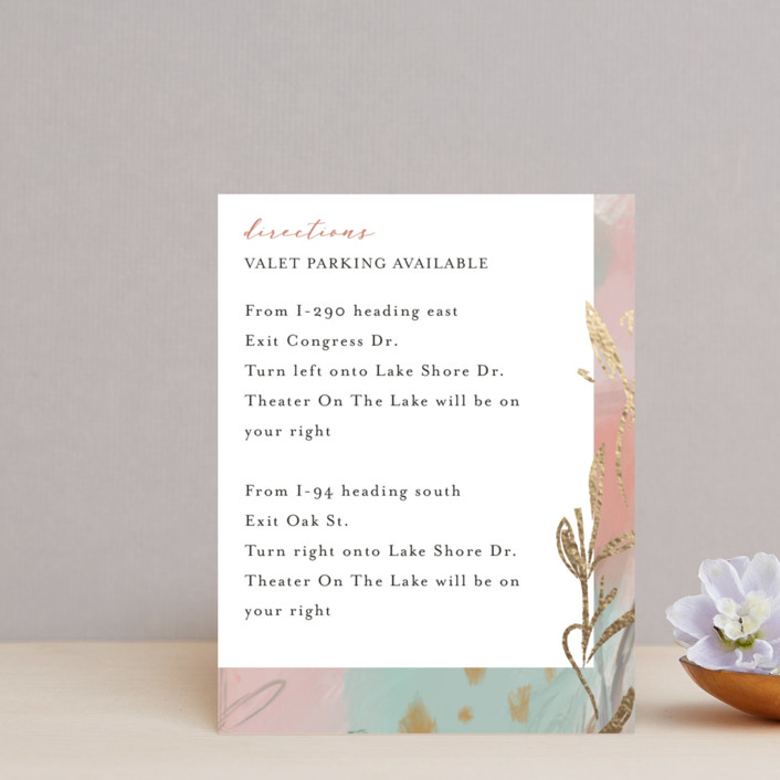 """Impressions"" - Foil-pressed Direction Cards in Peachy by Lindsay Megahed."
