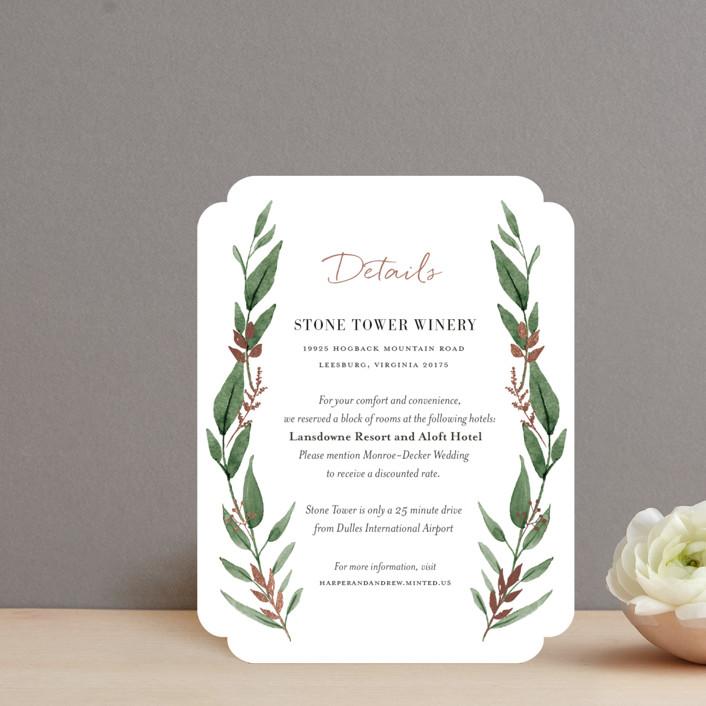"""Shade Garden"" - Foil-pressed Direction Cards in Leaf by Robin Ott."