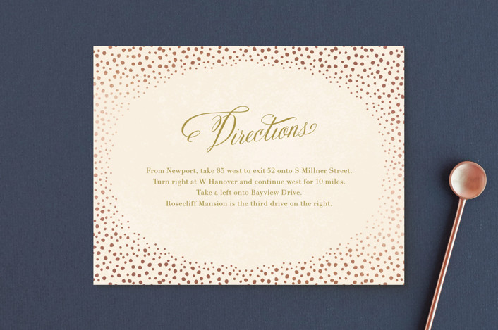 """Baby's Breath"" - Whimsical & Funny Foil-pressed Direction Cards in Petal by Laura Hankins."