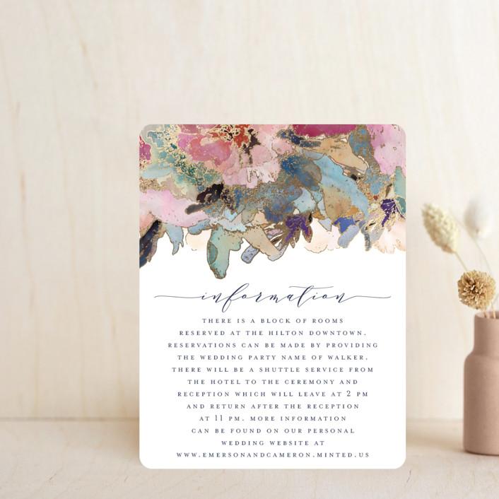 """Gilded Drape"" - Foil-pressed Direction Cards in Fruitcake by Grace Kreinbrink."