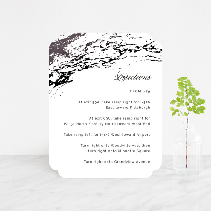 """""""Classic Splash"""" - Foil-pressed Direction Cards in Navy by kbecca."""
