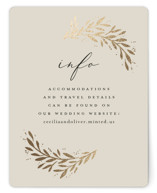 This is a white enclosure card by Laura Hankins called Vine + Pen with foil-pressed printing on signature in standard.