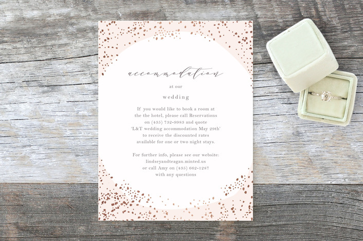 """""""Dreamy"""" - Bohemian Foil-pressed Direction Cards in Rose Gold by Phrosne Ras."""