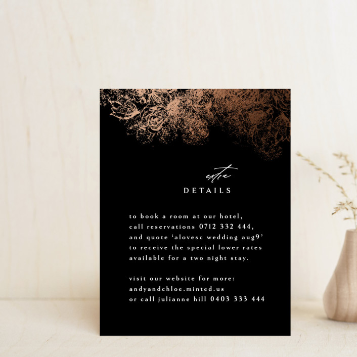 """fairytale dust"" - Foil-pressed Direction Cards in Midnight by Phrosne Ras."
