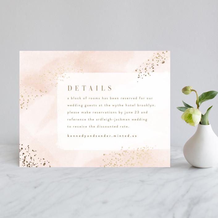 """Zara"" - Foil-pressed Direction Cards in Blush by Kristie Kern."
