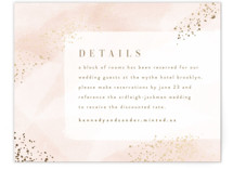 This is a pink enclosure card by Kristie Kern called Zara with foil-pressed printing on signature in standard.