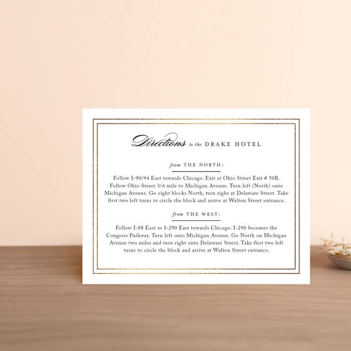 """""""Eloquence"""" - Foil-pressed Direction Cards in Gold by Kimberly FitzSimons."""