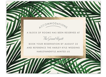 Tropical Love Foil-Pressed Direction Cards