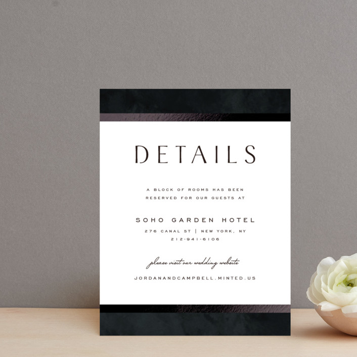 """""""Element"""" - Foil-pressed Direction Cards in Tuxedo by Yuliya Evseeva."""