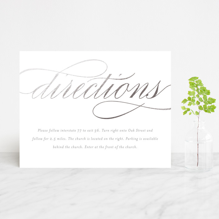 """""""Mist"""" - Foil-pressed Direction Cards in Silver by Lori Wemple."""