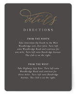 This is a grey enclosure card by Jessica Williams called Over Monogram with foil-pressed printing on signature in standard.