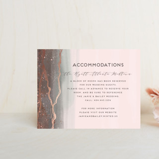 """Natural Elegance"" - Foil-pressed Direction Cards in Morganite by iamtanya."