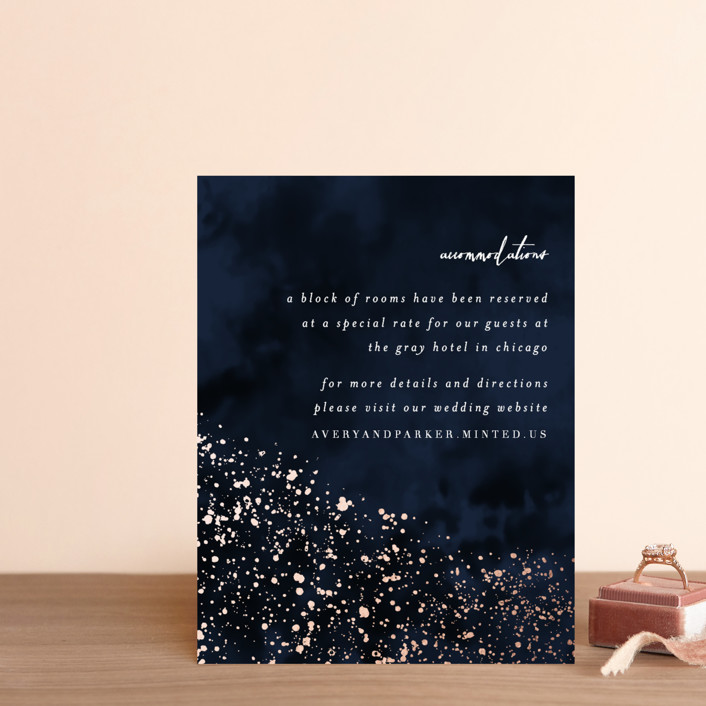 """glistening stardust"" - Foil-pressed Direction Cards in Midnight by Angela Marzuki."