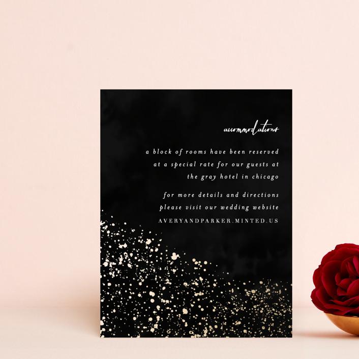 """glistening stardust"" - Foil-pressed Direction Cards in Onyx by Angela Marzuki."