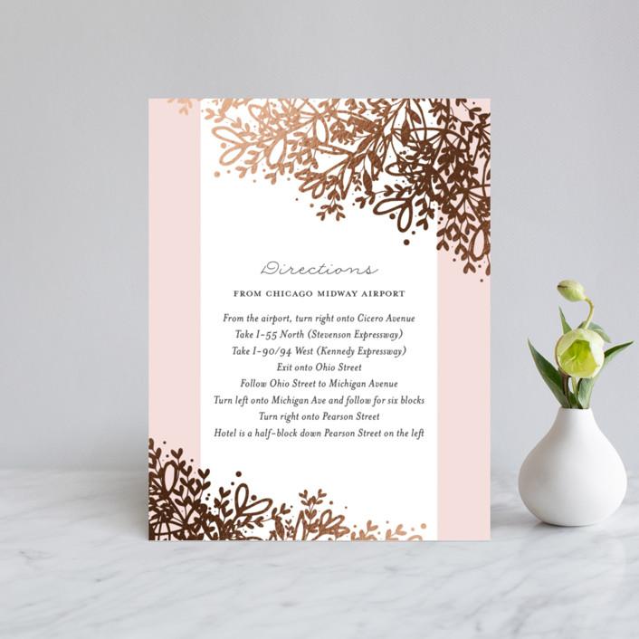 """""""Gem"""" - Rustic Foil-pressed Direction Cards in Blush by lena barakat."""