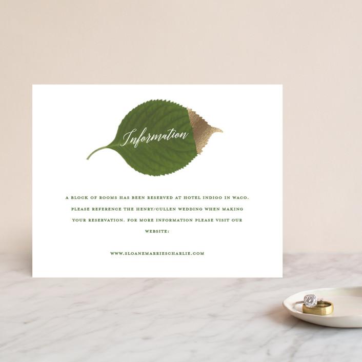 """Dipped Leaf"" - Foil-pressed Direction Cards in Leaf by Kaydi Bishop."