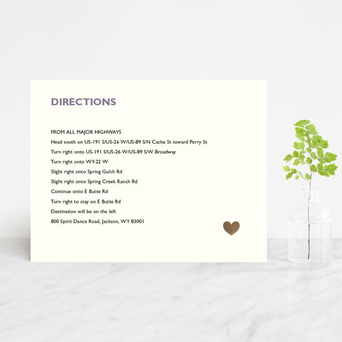"""""""Destination"""" - Foil-pressed Direction Cards in Lilac Haze by leslie hamer."""