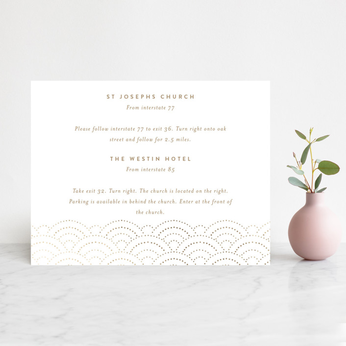 """""""Bubbly"""" - Foil-pressed Direction Cards in Blush by Lori Wemple."""