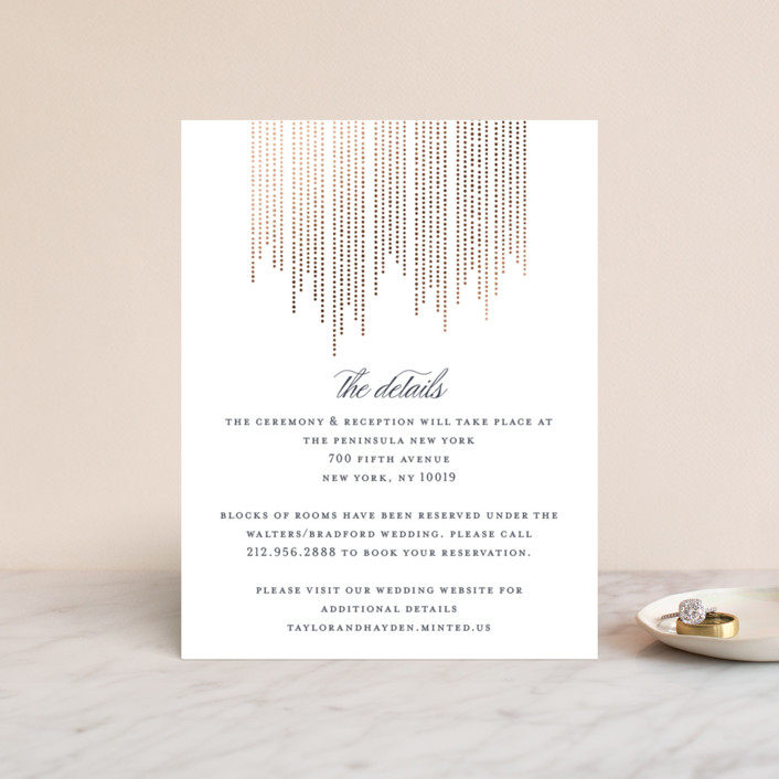 """""""Sparkle"""" - Modern Foil-pressed Direction Cards in Cotton by Shirley Lin Schneider."""
