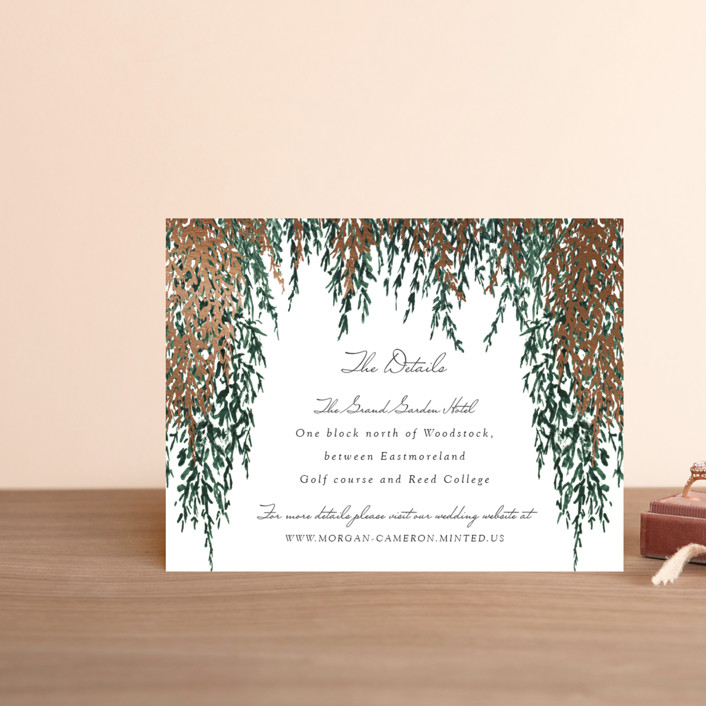 """In Love"" - Foil-pressed Direction Cards in Broccoli by Elly."