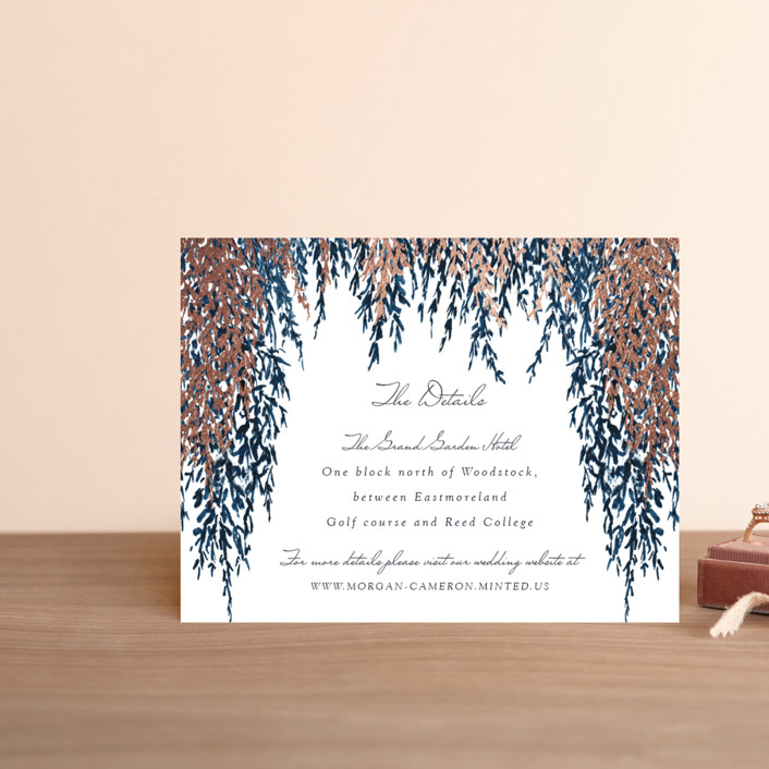 """""""In Love"""" - Foil-pressed Direction Cards in Cobalt by Elly."""