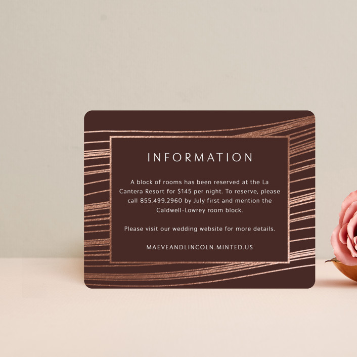 """chiffon"" - Modern Foil-pressed Direction Cards in Desert Rose by Kaydi Bishop."