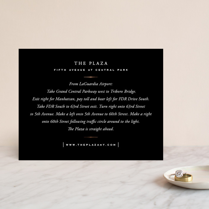 """""""Majestic"""" - Whimsical & Funny, Vintage Foil-pressed Direction Cards in Gold by Oscar & Emma."""