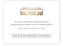 Golden Gate Bridge Foil-Pressed Direction Cards