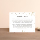 Foil-Pressed Direction Cards