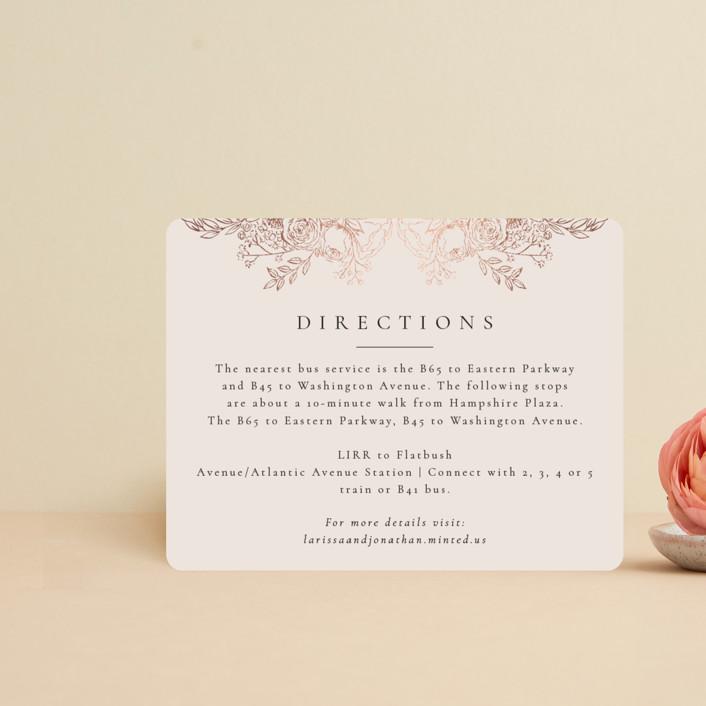 """""""Floral Frame"""" - Foil-pressed Direction Cards in Powder by frau brandt."""