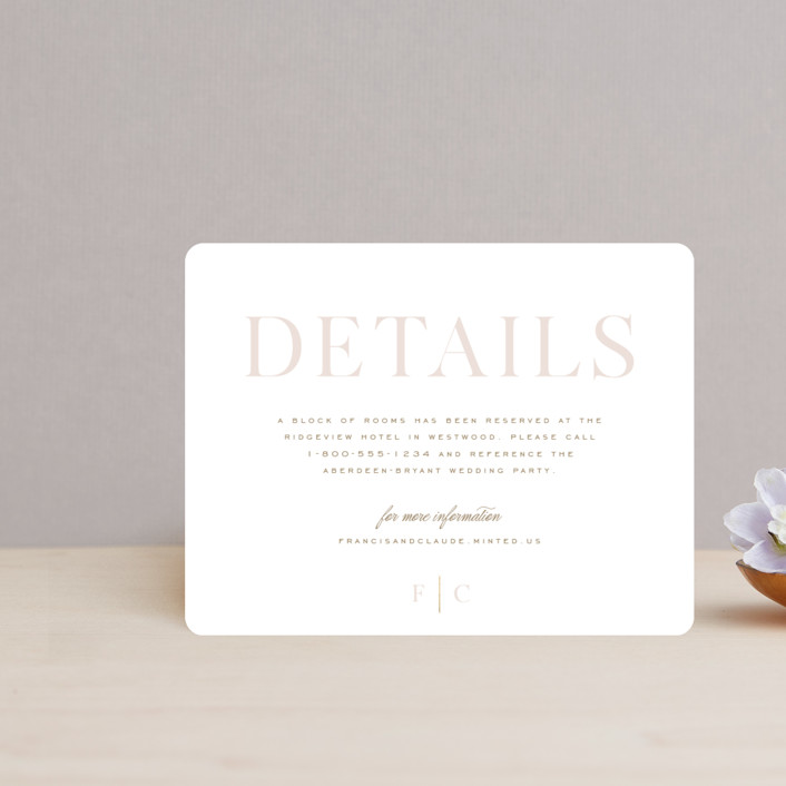 """""""Lovely Day"""" - Foil-pressed Direction Cards in Rose Quartz by Leah Bisch."""
