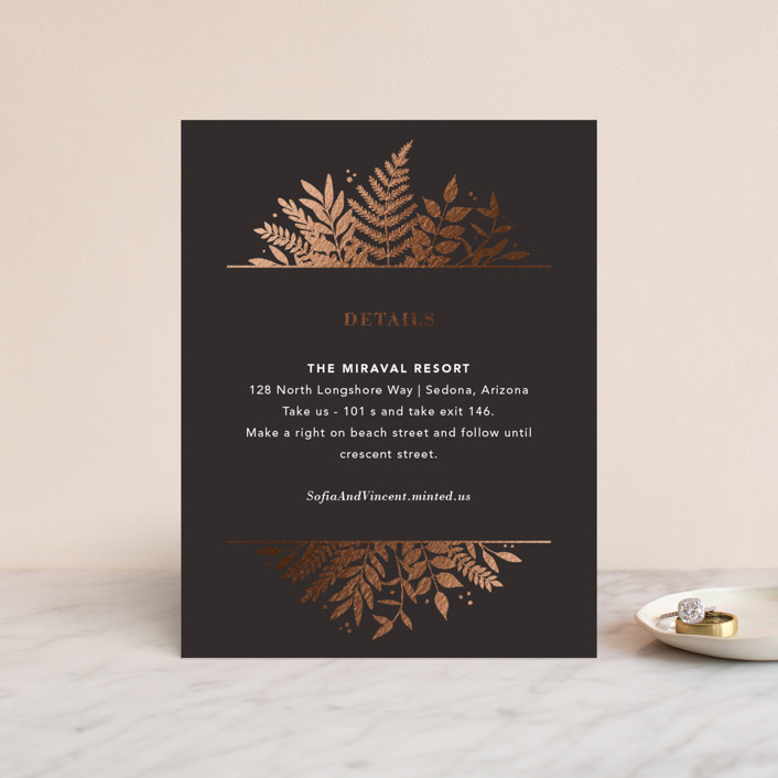 """""""Garden"""" - Foil-pressed Direction Cards in Midnight by Joyce Pinheiro."""