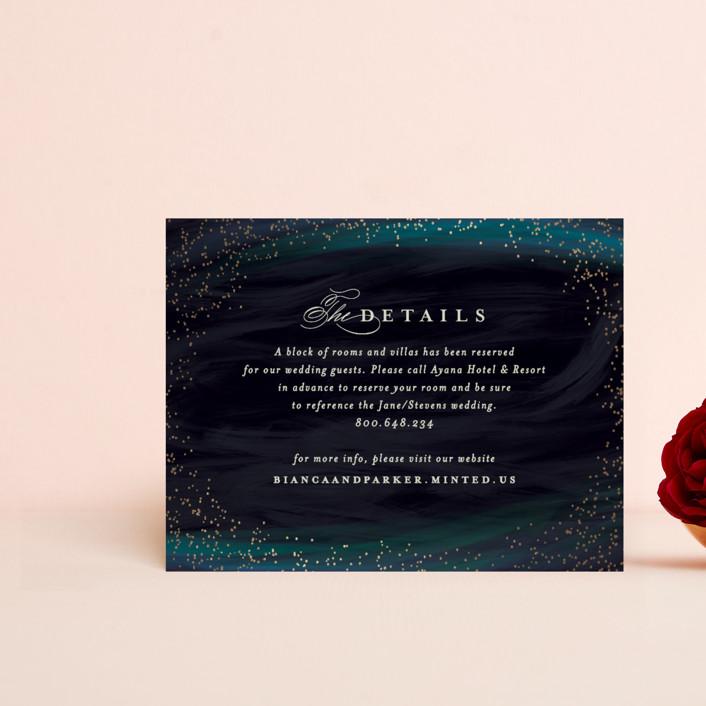 """borealis"" - Modern Foil-pressed Direction Cards in Zircon by chocomocacino."