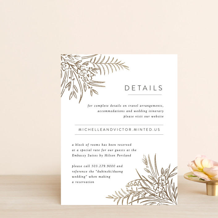 """""""Delicate Woodland"""" - Foil-pressed Direction Cards in Silk by Shiny Penny Studio."""