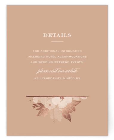 This is a landscape botanical, painterly, rustic, pink Direction Cards by Sarah Brown called Ambrosia with Foil Pressed printing on Signature in Card Flat Card format. This elegant wedding invitation features hand painted florals with gold foil accents perfect for ...