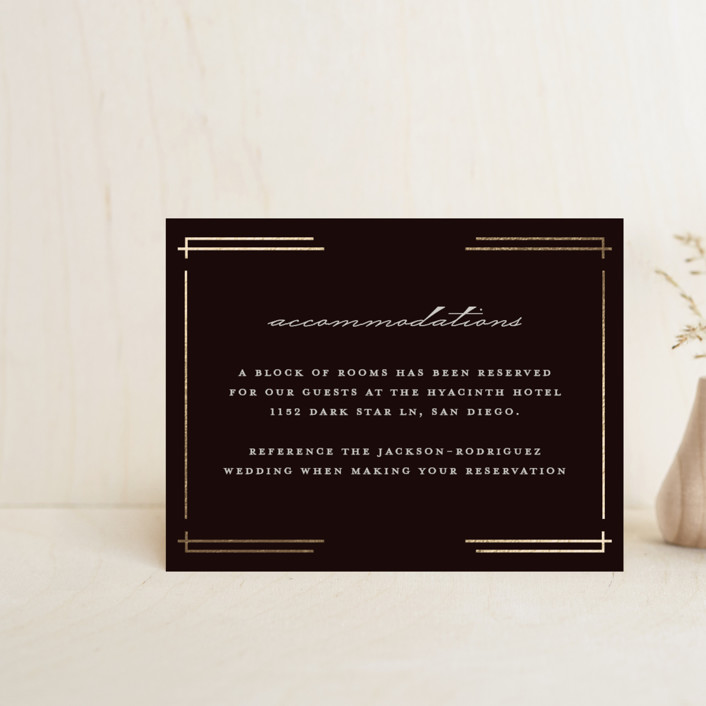 """""""Social Distancing"""" - Vintage Foil-pressed Direction Cards in Midnight by Katie Zimpel."""