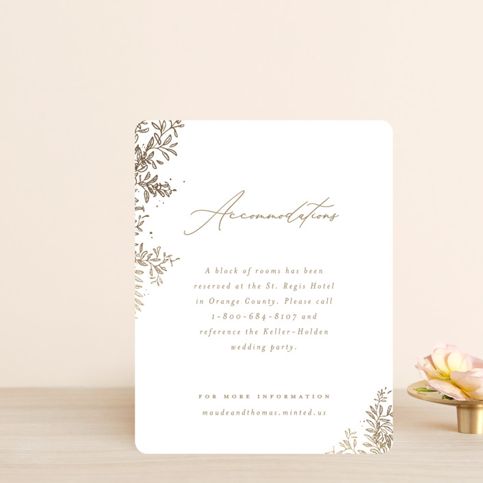 """""""Reflection"""" - Rustic Foil-pressed Direction Cards in Porcelain by Leah Bisch."""