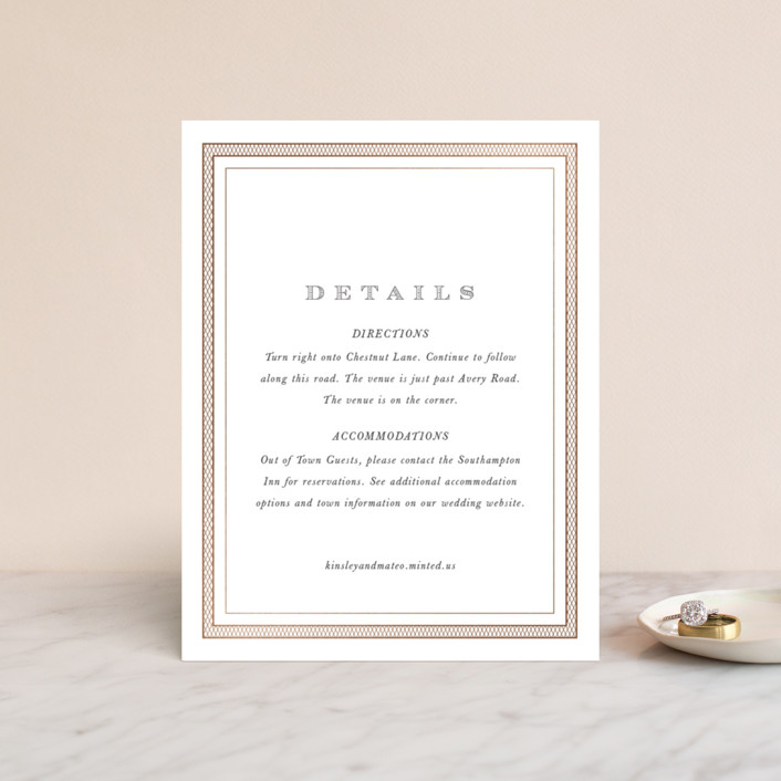 """""""Intricate"""" - Vintage Foil-pressed Direction Cards in Classic by Design Lotus."""