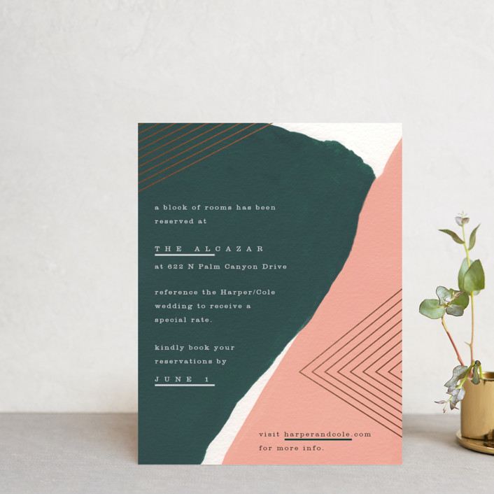 """""""Artful Oneness"""" - Foil-pressed Direction Cards in Cactus by Moglea."""