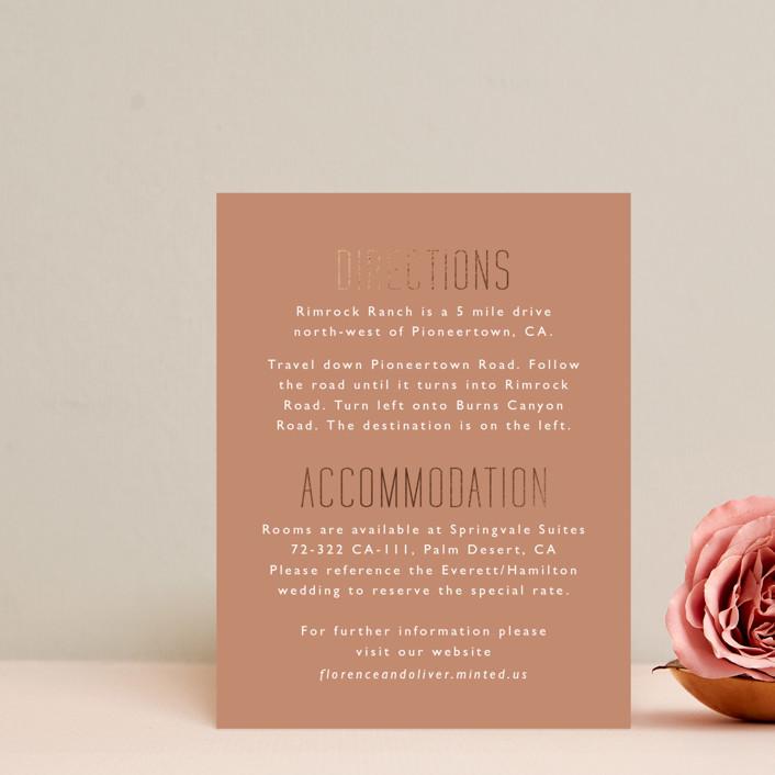 """""""desert dream"""" - Foil-pressed Direction Cards in Desert by Hudson Meet Rose."""