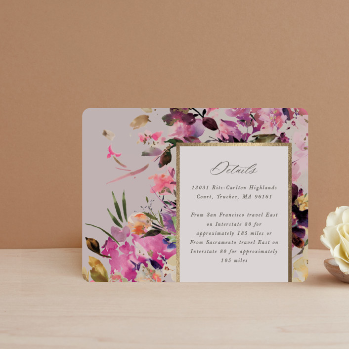 """""""beauti"""" - Foil-pressed Direction Cards in Violet by Lori Wemple."""