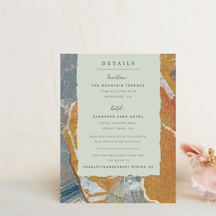 """""""Earth Song"""" - Foil-pressed Direction Cards in Sunset Stone by Starry Lane Studio."""
