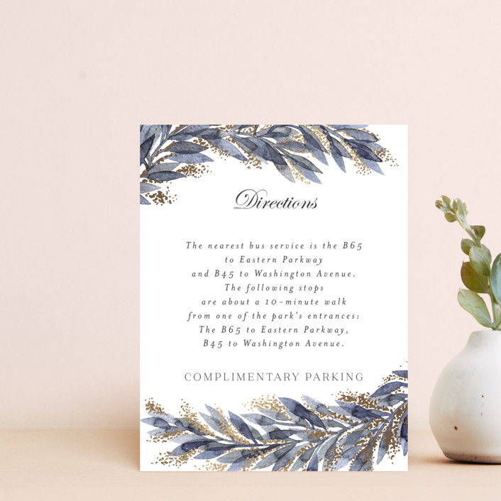 """""""winter elegance"""" - Bohemian Foil-pressed Direction Cards in Winter by Alexandra Dzh."""