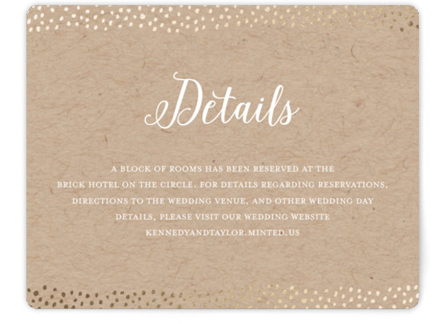 This is a landscape modern, whimsical, brown Direction Cards by Little Words Design called Harbor Lights with Foil Pressed printing on Signature in Card Flat Card format. Classic with a whimsical twist, this wedding invitation incorporates handwritten fonts, painterly edges, ...