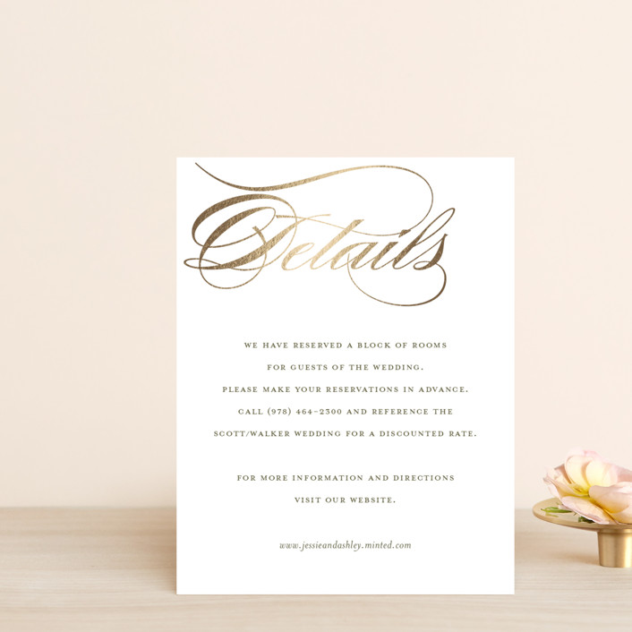 """""""We Do."""" - Foil-pressed Direction Cards in Gold by Eric Clegg."""