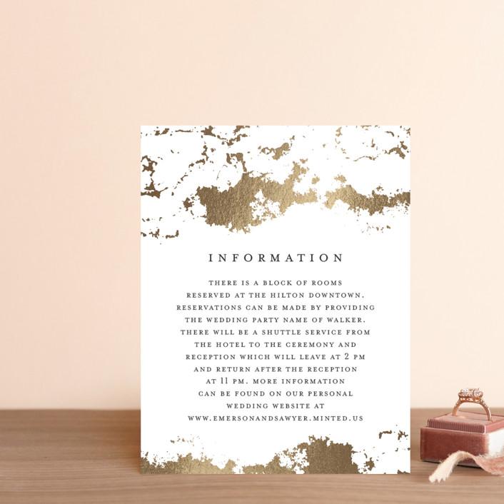 """Aerial"" - Foil-pressed Direction Cards in Gold by Grace Kreinbrink."