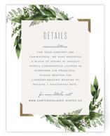 Diamante Foil-Pressed Direction Cards