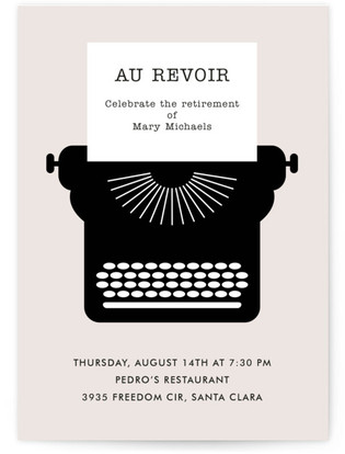 Au Revoir Retirement Party Online Invitations