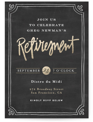 Just Cocktails Retirement Party Online Invitations