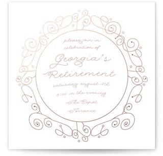 Rose Golden Retirement Retirement Party Online Invitations
